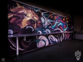 Wall painting. Tattoo Studio - Sin City_5 by EGOR-DOG