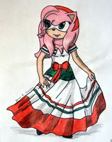 Amy Rose, Cinco de Mayo by MidnightFire1222