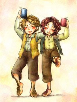 Merry and Pippin by solalis1226