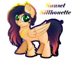 MLP: OC: Sunset Sillhouette (Art Trade) by Mychelle