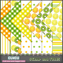 Fruit Papers by Scrap and Tubes by ZaZaScrapAndTubes