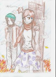 orihime and uryu by Gloommix