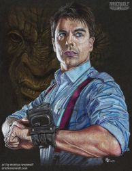 Captain Jack Harkness - John Barrowman by The-Art-of-Ravenwolf
