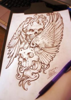 Composition for tattoo #2 by DOUGLASDRACO