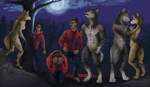 Commission: Werewolf-Wolffire by lycanthropeful