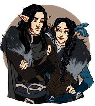 Vax And Vex by naomimakesart
