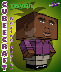 Cubeecraft of Burton Gus Guster from Psych 3D by SKGaleana
