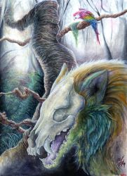 A Ghost in the Forest  Ahk by Arkelion