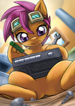 [TALOYQ Side Art] Scootaloo The Repairmare by vavacung