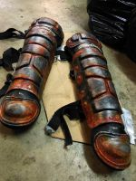 Rusted Shin Armor by swanboy