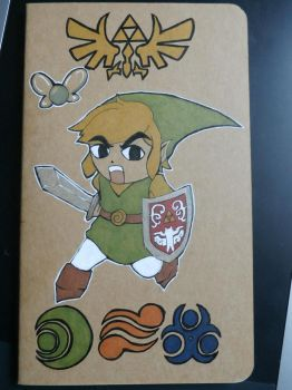 Toon Link custom notebook by kagekabuki