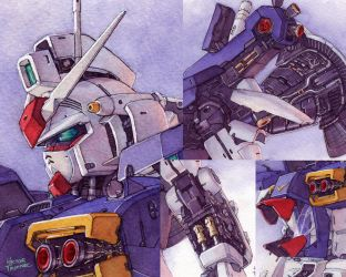 Gundam GP01 details by Trunnec