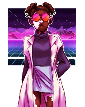 Amara gained a vapourwave aesthetic by equiz923