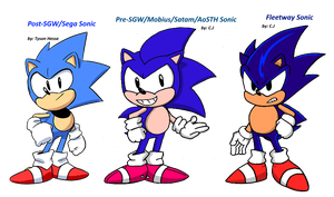 Sonic Classic Comparison by FrostTheHobidon