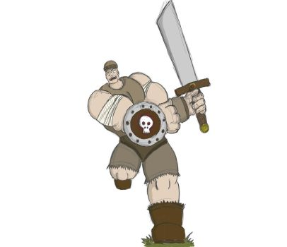 Warrior Barbarian Something by Gostun