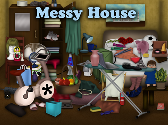 Messy House (Hidden Objects HTML5 game) by GetLostGames