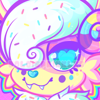 Icon: Birthday Cake Ice Cream Sweet Monsterbun by Dolcisprinkles