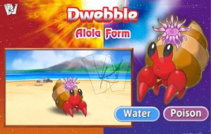Alola Form Water-Poison Type Dwebble