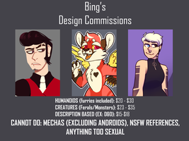 DESIGN COMMISSION PRICES (EDITED EXAMPLES ON PAGE) by CrownedCorvid