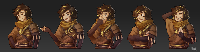 Commission: Character Emotes by Hozure