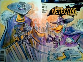 Sketch Cover Darkwing Duck by mannycartoon