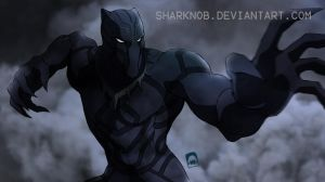 Black Panther ready to fight by sharknob