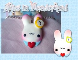 .:White Rabbit Necklace:. by PhantomCarnival