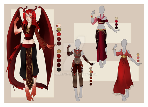 :: FEB Commission 02: Outfit Wardrobe :: by VioletKy