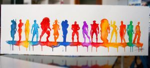 ORIGINAL Watercolour fan art: Band of Mass Effect by Shaya-Fury