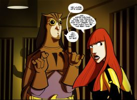 Nite Owl and Silk Spectre by PandaFace