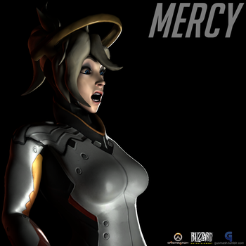 Mercy Surprised Large Expression by GusMash3D