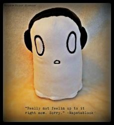 Napstablook Undertale Flat Sale Plush (SOLD) by The-Plushatiers