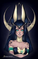 Goddess Anubis by Namiedraws