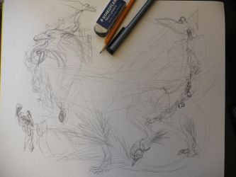 Dragon-Bird Beast WIP by ImmaCatastrophe