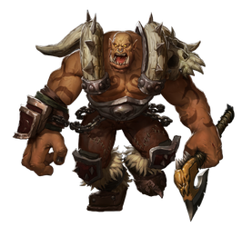 Garrosh Hellscream Wow By Staplesart render by Diablo7707