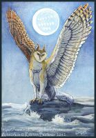 Gryphon Tarot - The Moon by silvermoonnw