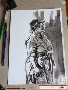A Mother and Daughter inks by MbK14