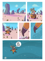 Space Deer on a planet by IndianaJonas