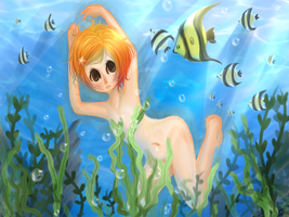 Swimming by Peach-Lemur