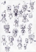 cute robots by Jump-Button