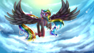 Above the Clouds | Finished YCH by xKittyblue