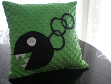Dk Green Chain Chomp Pillow by Omonomopoeia
