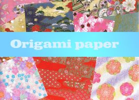 Origami paper - 16 of 'em XD by Zymp