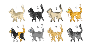 CAT ADOPTABLES(CLOSED) by rhydasai