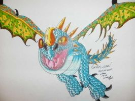 How to Train Your Dragon fan art, Stormfly by d13mon-studios