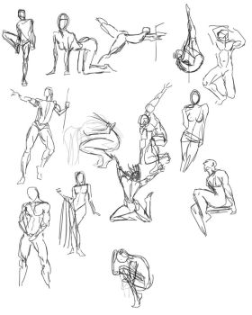 Quickposes figures 1 by SuikTwoPointOh