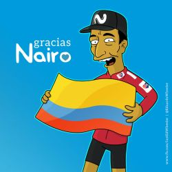 Nairo Quintana Simpsons by edwheeler