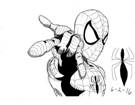 Spiderman Second Picture from Wacom Tablet by M-Dog076