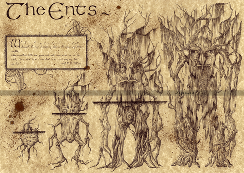 The Ents - Lord of the Rings by Zellgarm