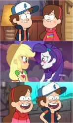 Dipper and Mabel's reaction to new RariJack Moment by hectorcabz